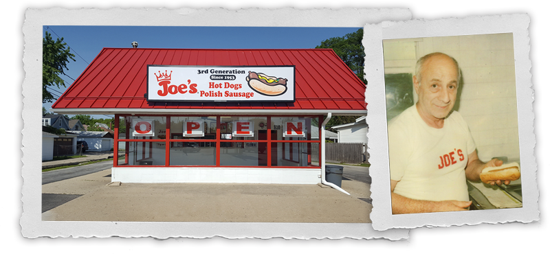 Original Owner, Joe with Joe's Hot Dogs Exterior